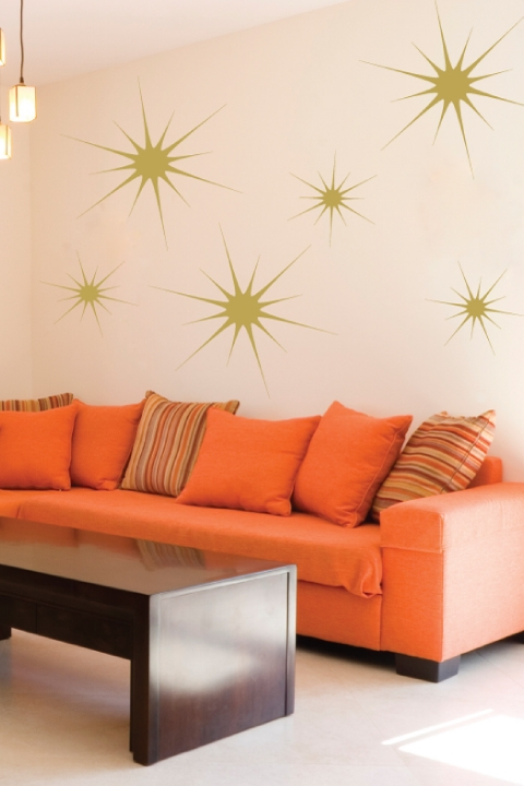 High Quality Starbursts Wall Decals