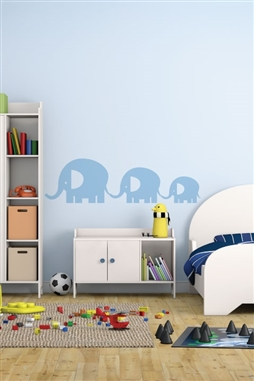 Elephant Family Wall Decals