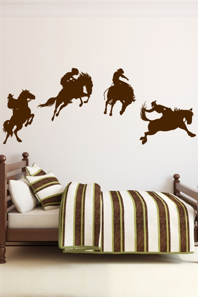 Cowboy wall decals walltat for Cowboy wall mural