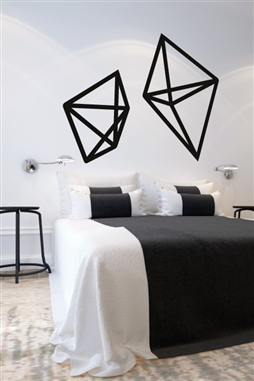 Geometric Wire Shapes Wall Decals
