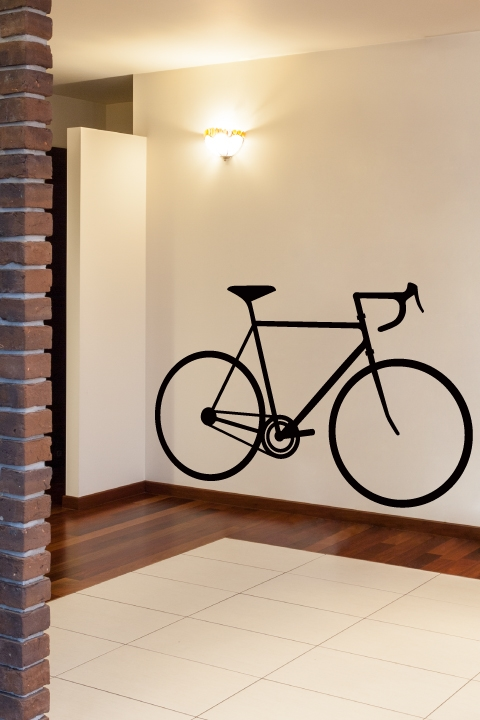 Bicycle Silhouette Wall Decals & Bicycle Silhouette Wall Decals by WALLTAT.com