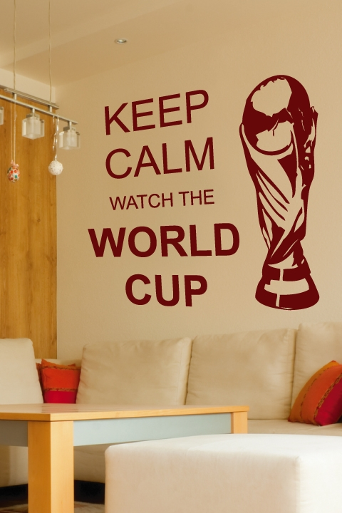 Wall Decals Keep Calm World Cup- WALLTAT.com Art Without Boundaries