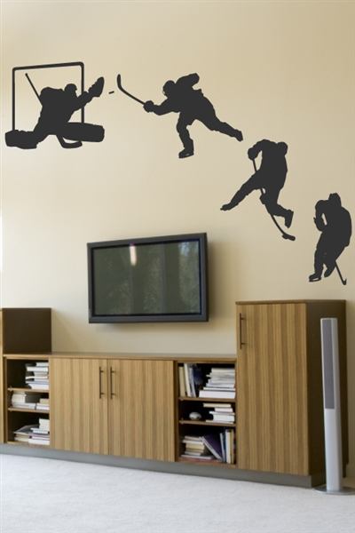 Wall Decals Hockey Sequence