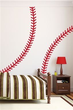 Baseball Stitches Wall Decals