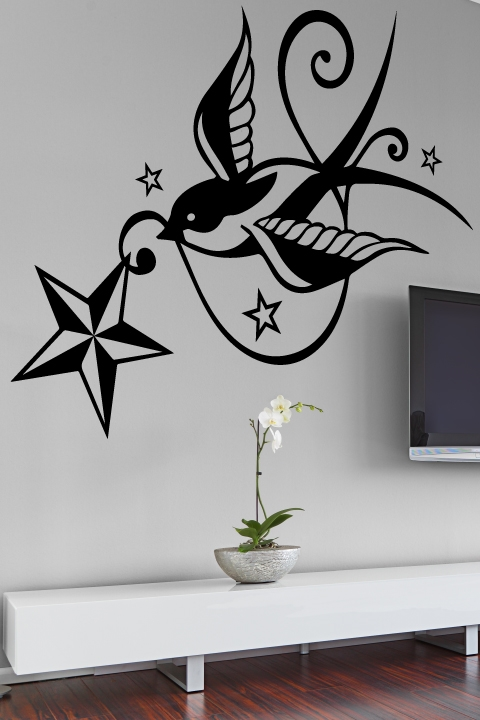 Tattoo Wall Art swallow wall tattoo - walltat art without boundaries