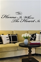 Home Is Where The Heart Is Wall Decals