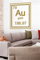 Gold Periodic Table Element Wall Decals