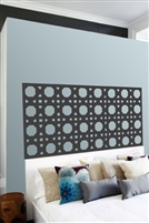 Cane Pattern Headboard Wall Decals