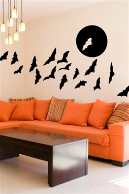 Full Moon Bats Wall Decals Wall Decals