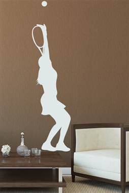 Wall Decals Tennis Serve Womens