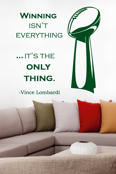 Wall Decals Lombardi Trophy WALLTATcom Art Without Boundaries - Wall decals images