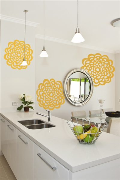 Lace Medallions Wall Decals