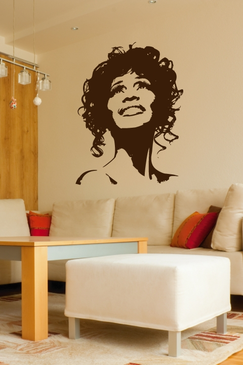 Whitney Houston Wall Decal with Lyrics