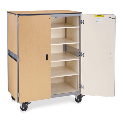 Mobile Storage Cabinet - with Locking Doors