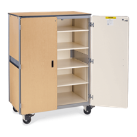 Mobile Storage Cabinet with 30 Tote Trays