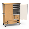 Multi-Purpose Mobile Storage Cabinet - Locking Doors