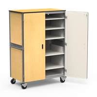 Mobile Storage Cabinet With Five Shelves