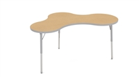 "Adjustable Activity Tables - 36x60"" Small Puddle Shape"