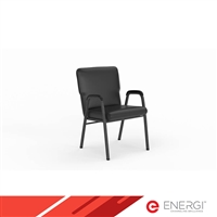 Comfort Stacking Chairs - with Arms, Vinyl