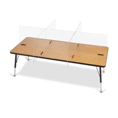 6 Station Shield for Desks and Tables - Large with Overhang