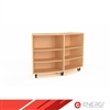 Curved Mobile Bookcase - Single Sided