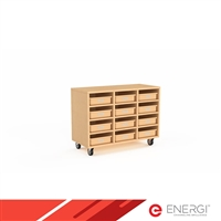 Mobile Cubby Unit + 12 Tote Trays