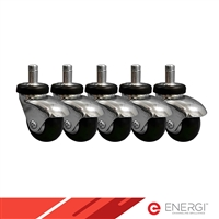 ENERGi - Premium Neoprene Soft Caster - Single Wheel - SET of 5