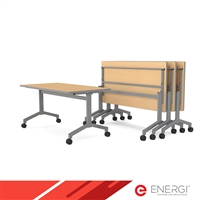 "ENERGi RATIO Flip Top Tables - 30""D x 60""W"