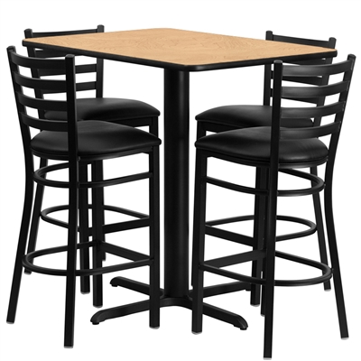 "Cafe Stool & Table Set - 24""x42"" Rectangle"