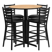 "Cafe Stool & Table Set - 30"" Round"