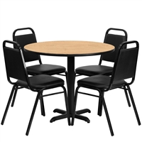 "Banquet Chair & Table Set - 36"" Round"
