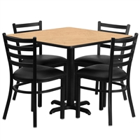 "Cafe Chair & Table Set - 36"" Square"