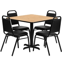 "Banquet Chair & Table Set - 36"" Square"