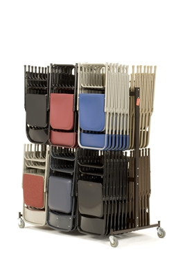 Folding Chair Cart - for metal & plastic folding chairs