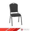 Padded Stacking Chairs - Black Pattern Fabric