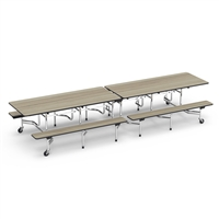 "Virco Mobile Cafeteria Tables - Bench Seat - Folding - 30""x144"""