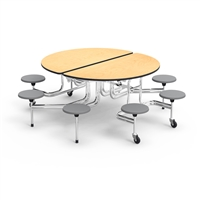 Virco Mobile Cafeteria Tables - Stool Seat - Folding - Oval
