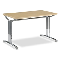 Virco TEXT Adjustable Height Tables - 30x48