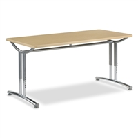Virco TEXT Adjustable Height Tables - 30x60
