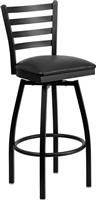 ENERGi - Metal Cafe/Bar Stools - Ladder Back - SWIVEL