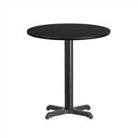 "24"" Round Table w/ X-Base"