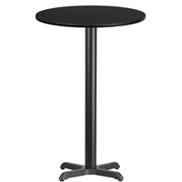 "24"" Round Table w/ X-Base - TALL"