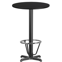 "24"" Round Table w/ X-Base & Footring - TALL"