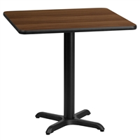 "24"" Square Table w/ X-Base"