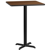 "24"" Square Table w/ X-Base - TALL"