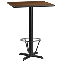 "24"" Square Table w/ X-Base & Footring - TALL"