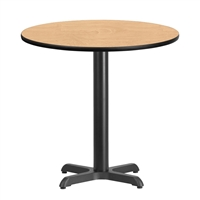 "30"" Round Table w/ X-Base"