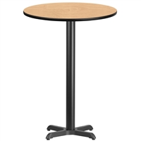 "30"" Round Table w/ X-Base- TALL"