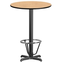"30"" Round Table w/ X-Base & Footring - TALL"