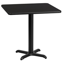 "30"" Square Table w/ X-Base"